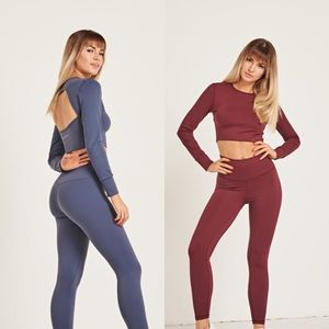 Active Cropped Long Sleeve Set